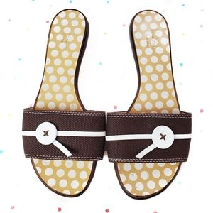 kate spade Brown Polka Dot Sandal Slides 6.5